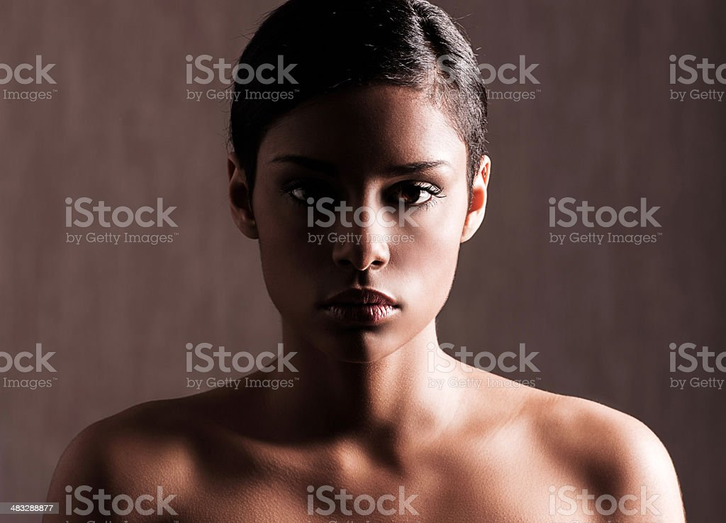 African-American beauty. royalty-free stock photo