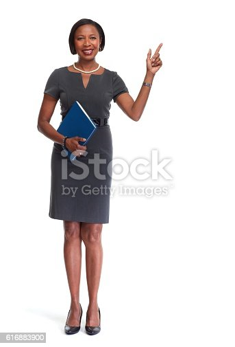 istock African-American business woman. 616883900