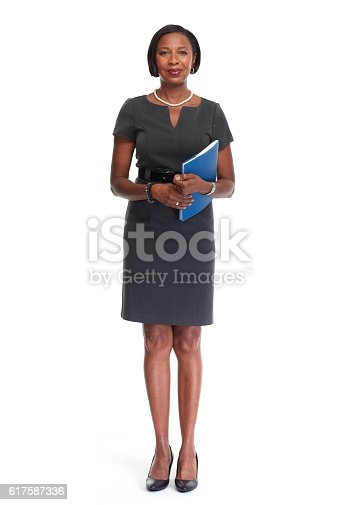 istock African-American business woman. 617587336