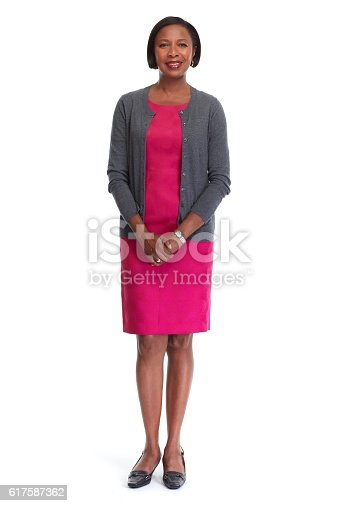 istock African-American business woman. 617587362