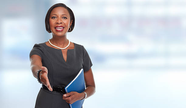 African-American business woman. – Foto