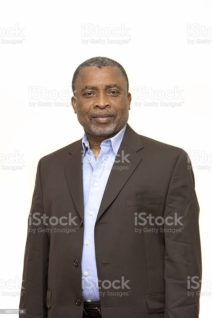 African-American businessman royalty-free stock photo