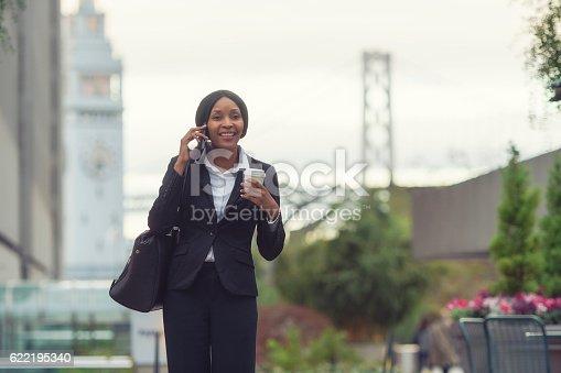 istock African-American businesswoman in San Francisco 622195340