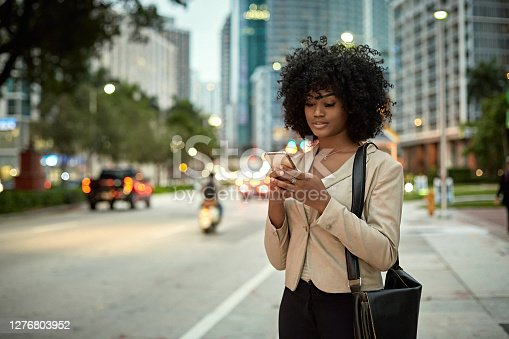 istock African-American Businesswoman Outdoors in Downtown Miami 1276803952