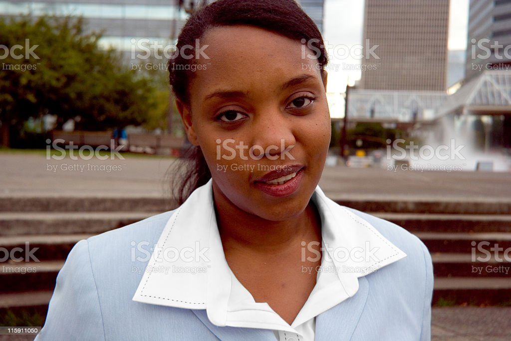African-American Businesswoman royalty-free stock photo