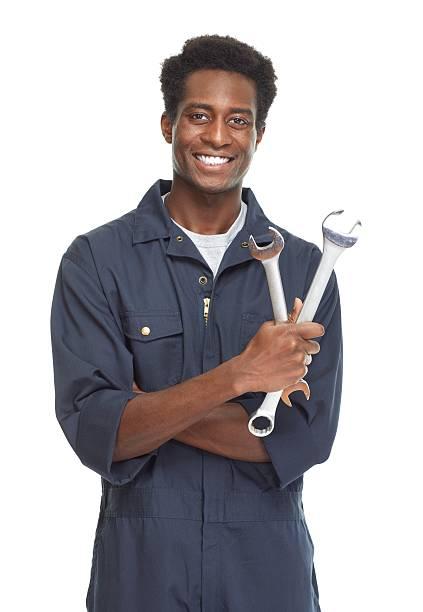 African-American car mechanic. – Foto