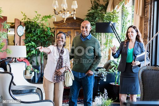 istock African-American couple shopping in furniture store 957383900