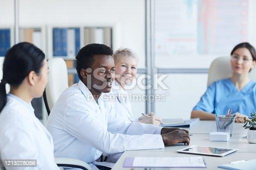 istock African-American Doctor 1213228056