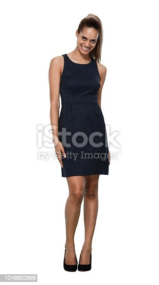 istock African-american ethnicity young women manager standing in front of white background in the office wearing businesswear 1248652669