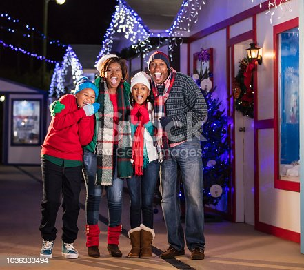 istock African-American family outdoors at Christmas 1036333494