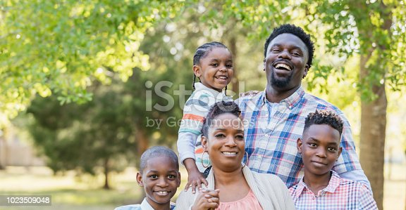 1091098026istockphoto African-American family, three boys posing for camera 1023509048