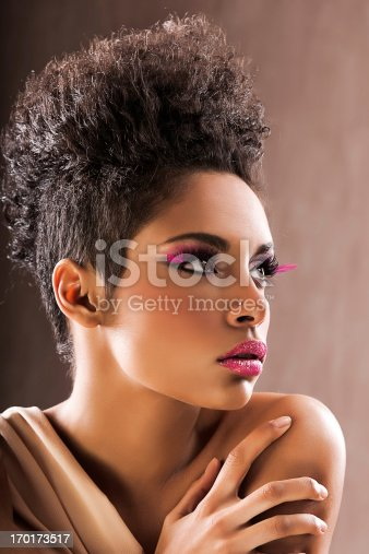 istock African-American fashion model. 170173517