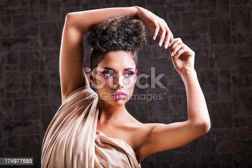 istock African-American fashion model. 174977593