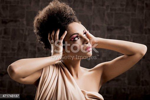 istock African-American fashion model. 471743137