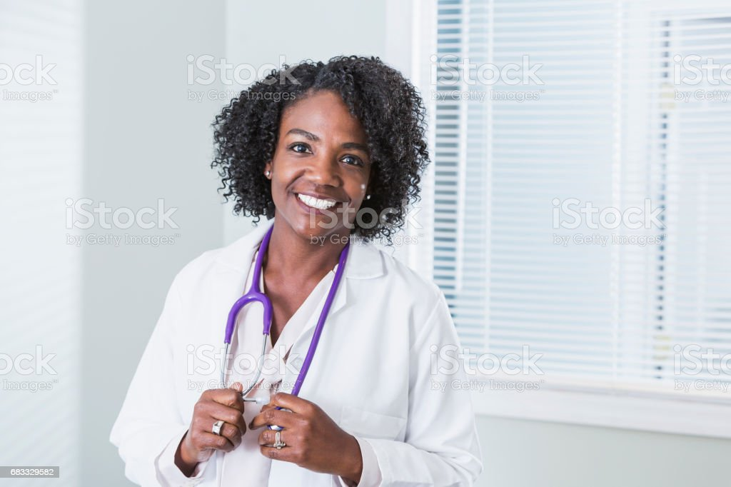 African-American female doctor stock photo