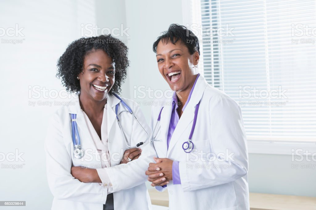 African-American female doctors foto stock royalty-free
