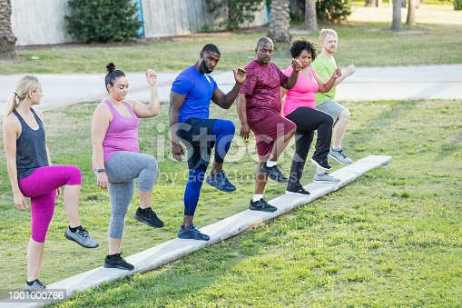 istock African-American man leading exercise class 1001000766