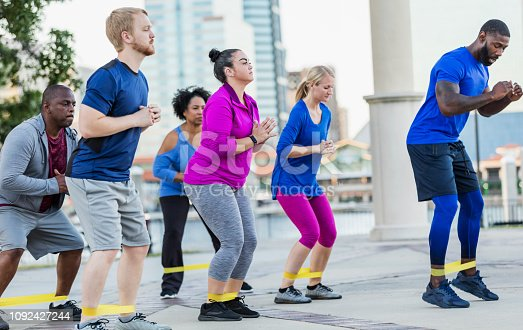 istock African-American man leading exercise class 1092427244