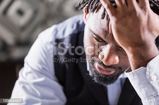 611876426 istock photo African-American man with short dreadlocks 1206534522