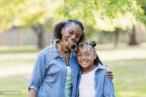 1091098026istockphoto African-American mother and daughter outdoors 1023505952