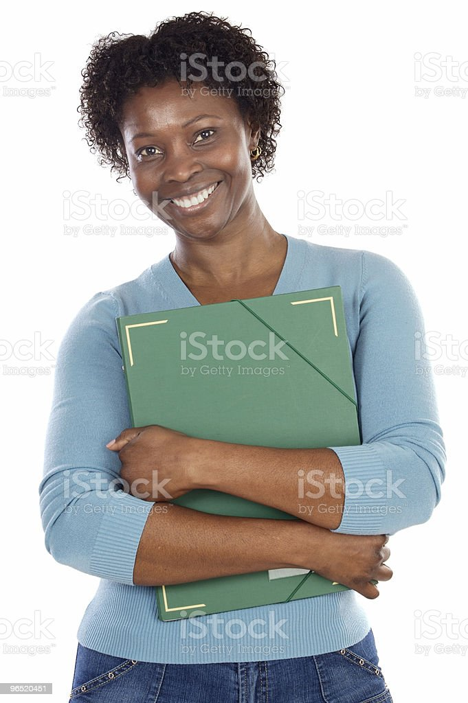 African-American university student royalty-free stock photo