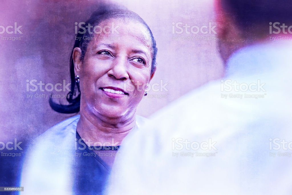 African-American Woman Dreaming of the Future stock photo
