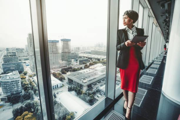 African-American woman entrepreneur stock photo