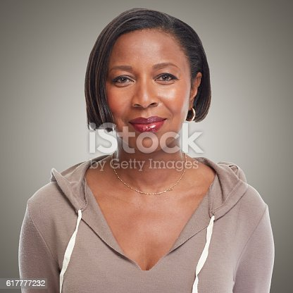 istock African-American woman. 617777232