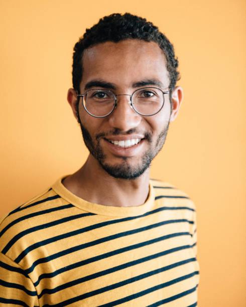 Afrikanischer Abstieg Real Man Porträt – Foto