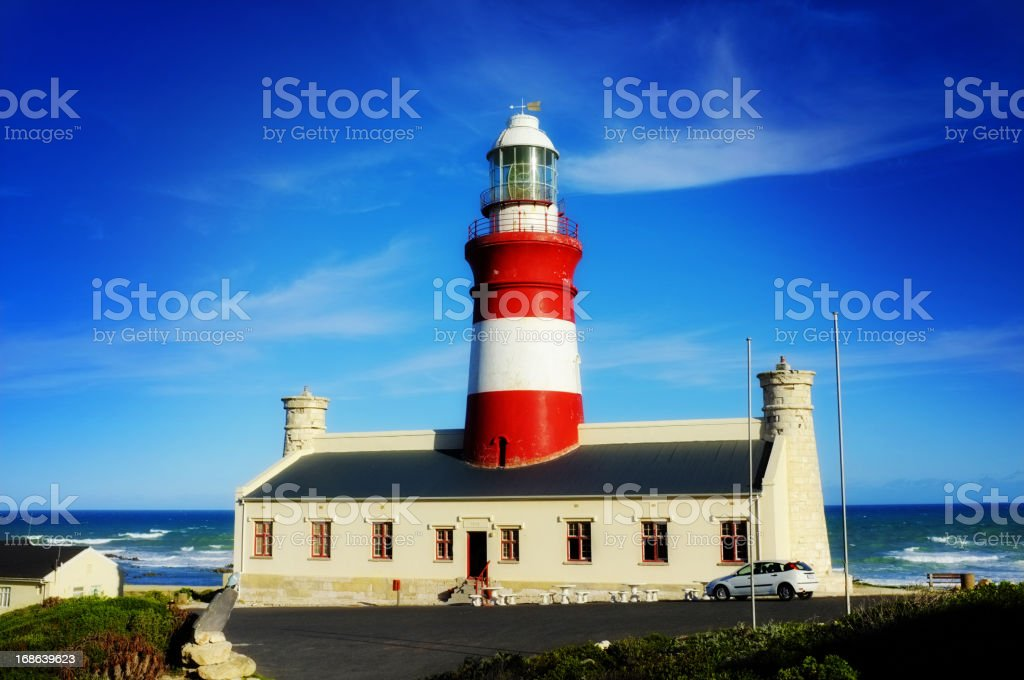 Africa's southernmost lighthouse at Cape Agulhas built in 1847. royalty-free stock photo