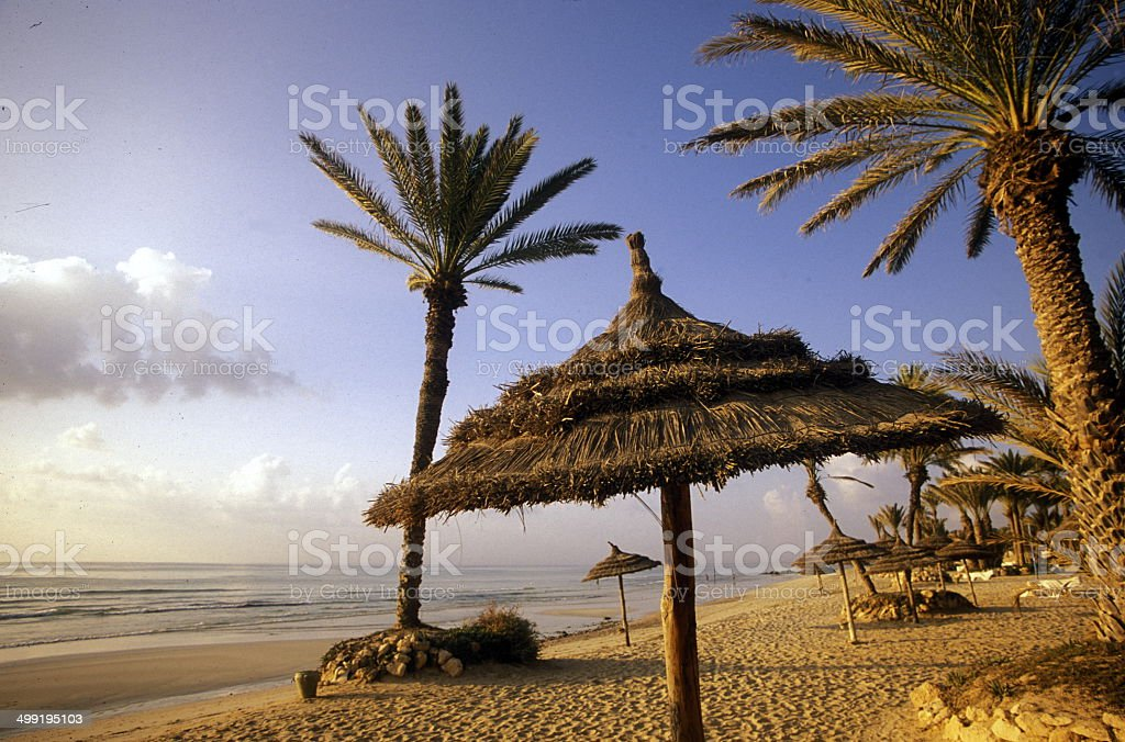 Afrika Tunesien Jerba Beach stock photo