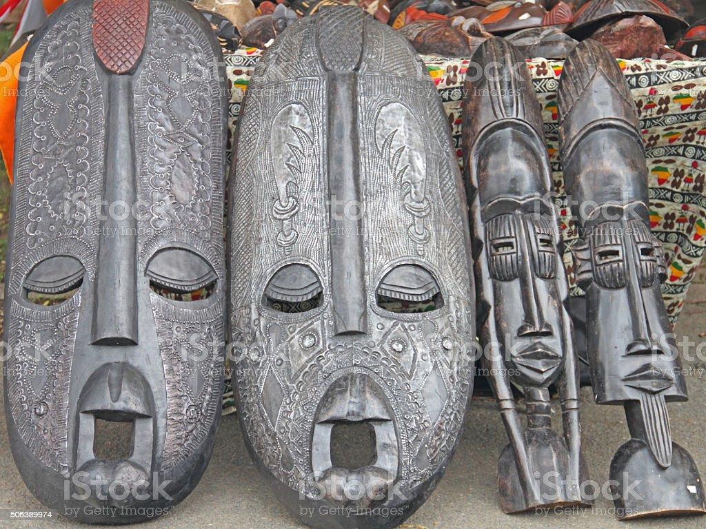 afrikanische Masken stock photo