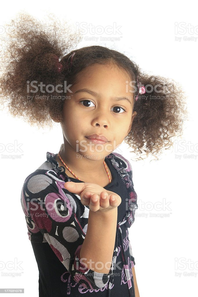 afro american beautiful girl  black curly hair isolated women metisse stock photo