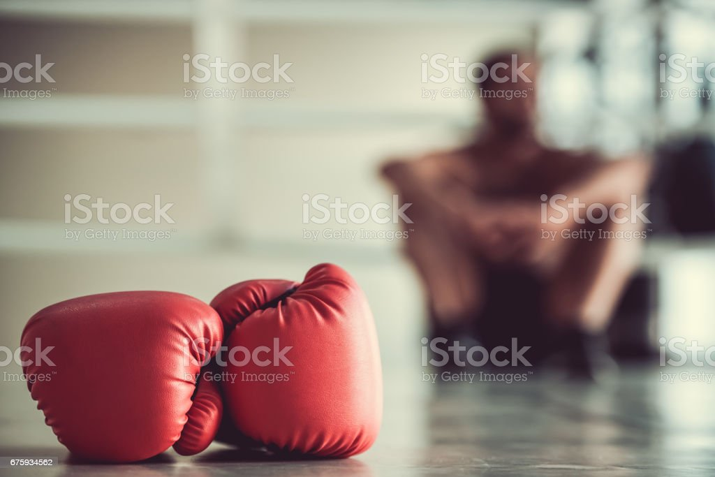 Afro American boxer stock photo