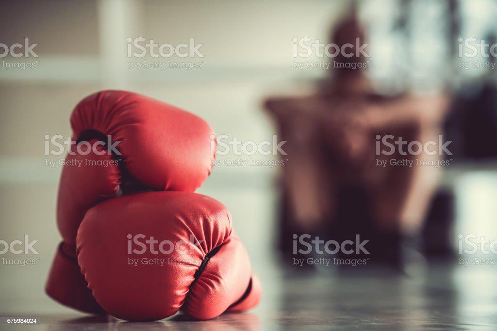 Afro American boxer - foto stock