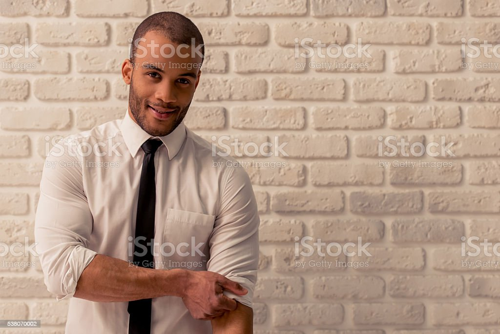 Afro American businessman stock photo