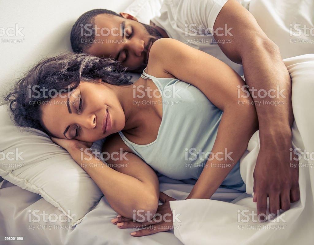 Afro American couple stock photo