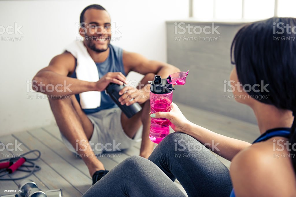 Black Couple Working Out Together