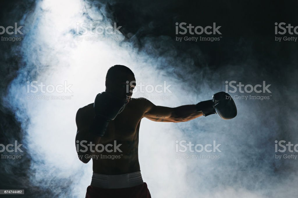 Afro american male boxer royalty-free stock photo