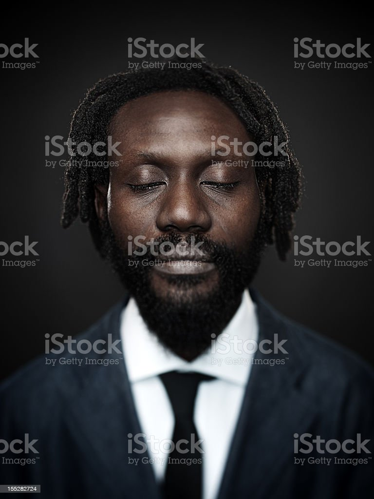 Afro american man royalty-free stock photo