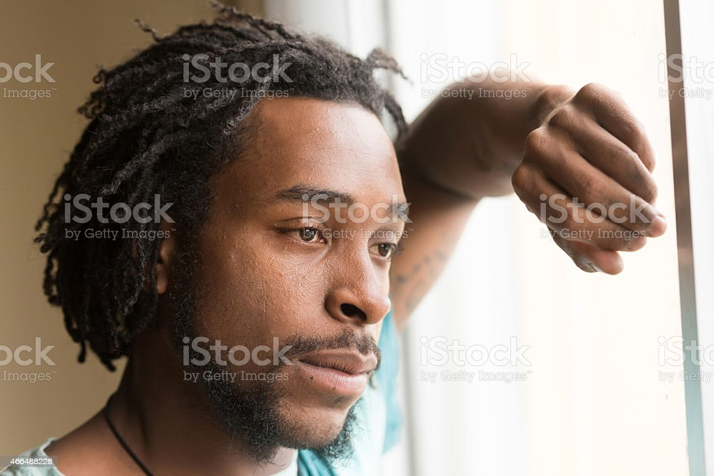 Afro american man stock photo