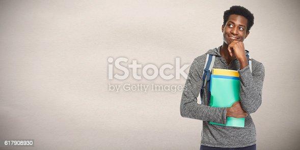 istock Afro american man. 617908930