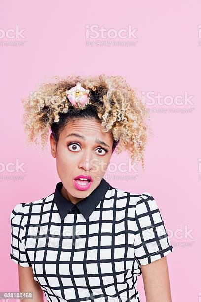 Afro American Woman With Diva Attitude With Little Crown Headbands Stock Photo - Download Image Now
