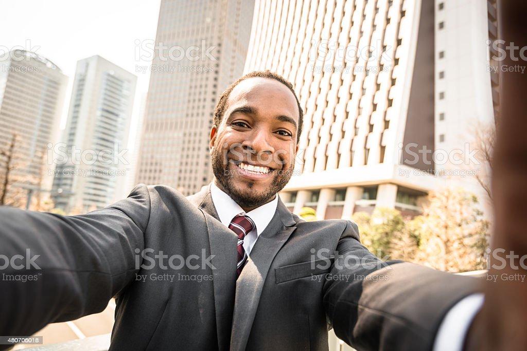 Coiffure Afro Homme d'affaires sur Tokyo - Photo