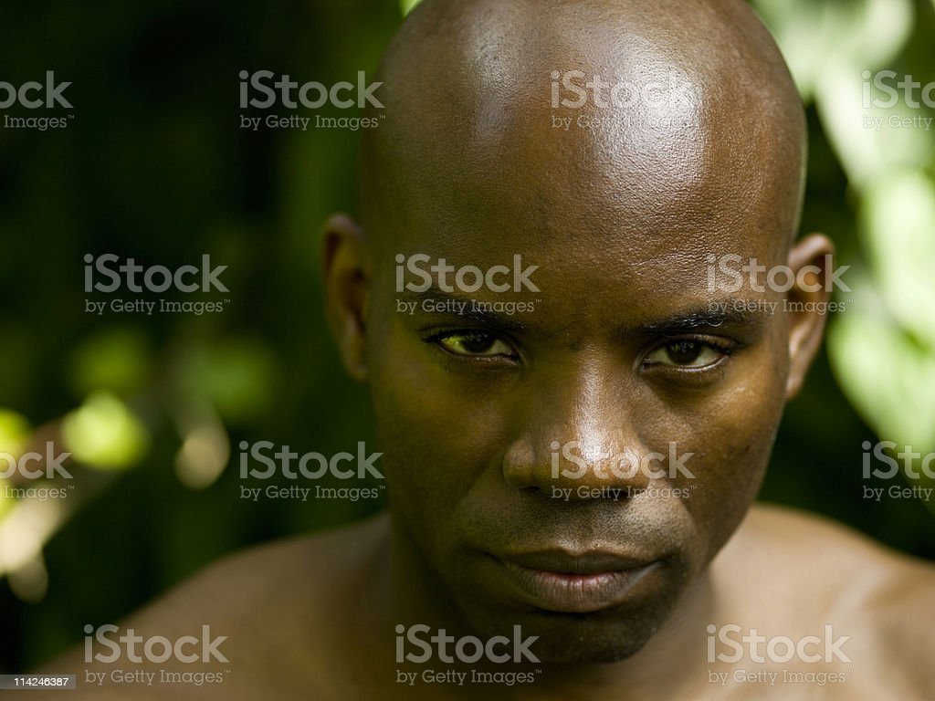 Afro caribbean male close up royalty-free stock photo