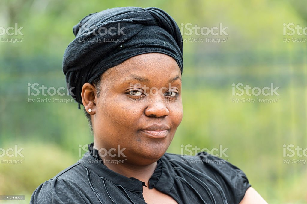 Afro caribbean woman stock photo