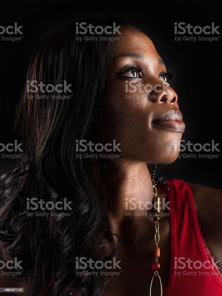 Afro caribbean young woman stock photo