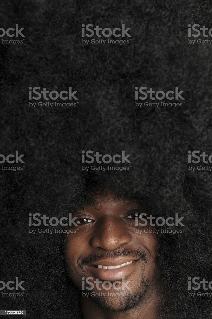 Afro CopySpace (XL) royalty-free stock photo
