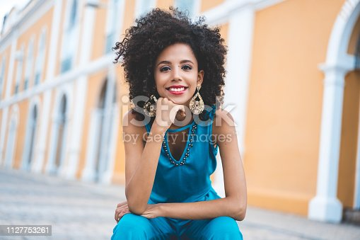 Women, African Ethnicity, Smiling, Curly Hair, Beauty