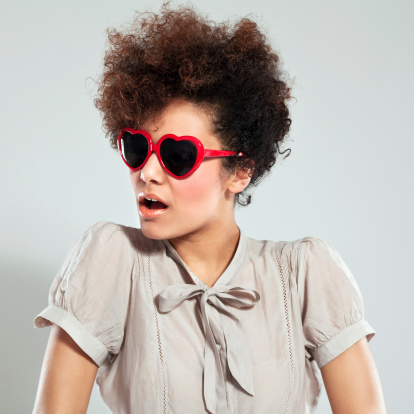 Afro Girl Portrait Stock Photo - Download Image Now